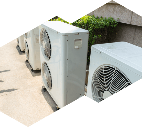 Air conditioners installed outside of an Ottawa building