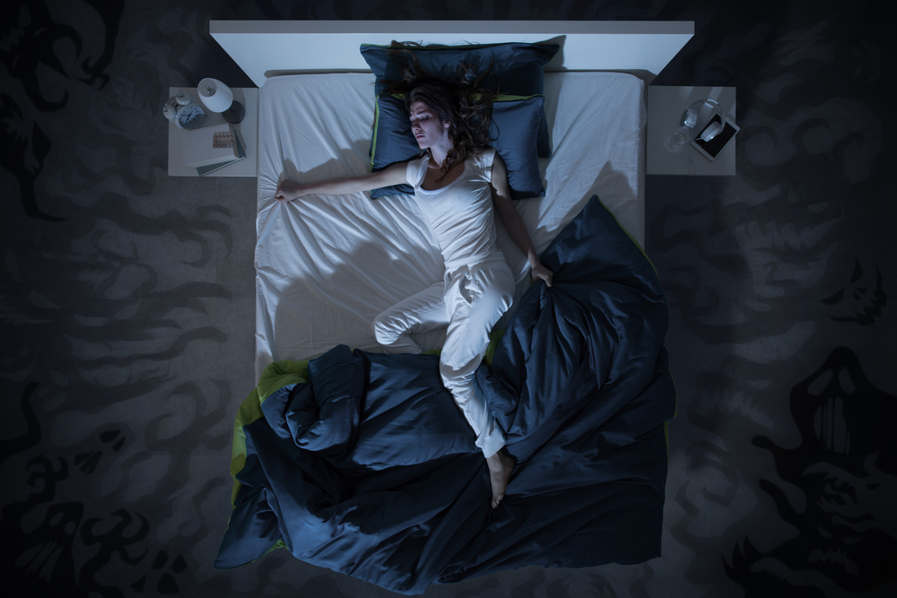 woman can't sleep needs air conditioning