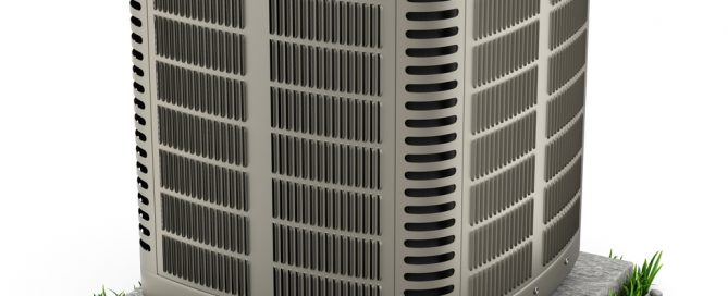 outdoor air conditioner unit at home