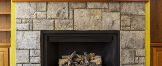 gas fireplace insert in older home