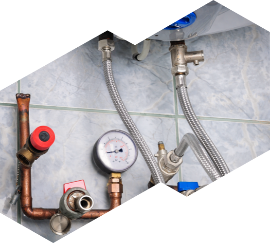 a water heater undergoing maintenance