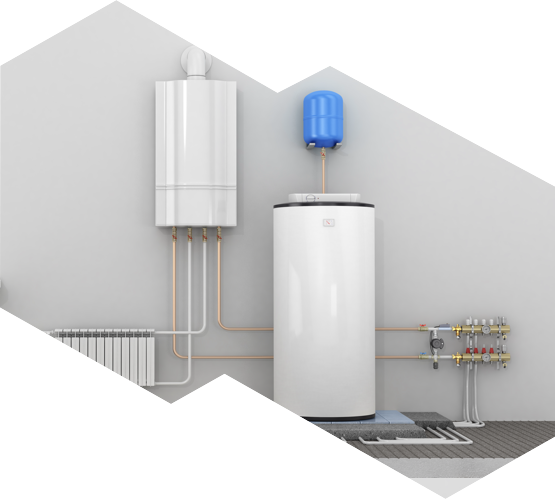 A hot water tank and water heater