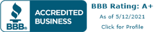 BBB A+ Accredited Business Seal